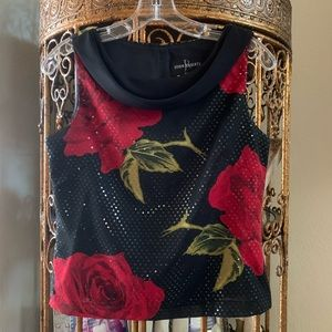 Ladies Roses/Sequins Blouse